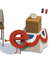 elecciones presidenciales Francia un google doodle