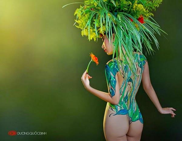 Ảnh gái xinh Body painting của Dương quốc định 11