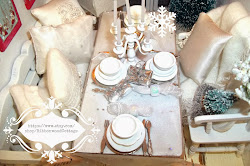 Dollhouse White Christmas Tablescape