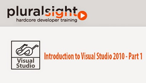 PluralSight – Introduction to Visual Studio 2010 – Part 1