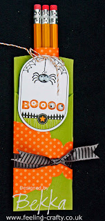 Creative and Healthy Halloween Treat by Bekka - buy everything you need to make this project (apart from the pencils) from www.feeling-crafty.co.uk