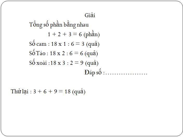 Các bài tập về tìm hai hay nhiều số khi biết tổng, hiệu và tỉ số - toán lớp 5(10)