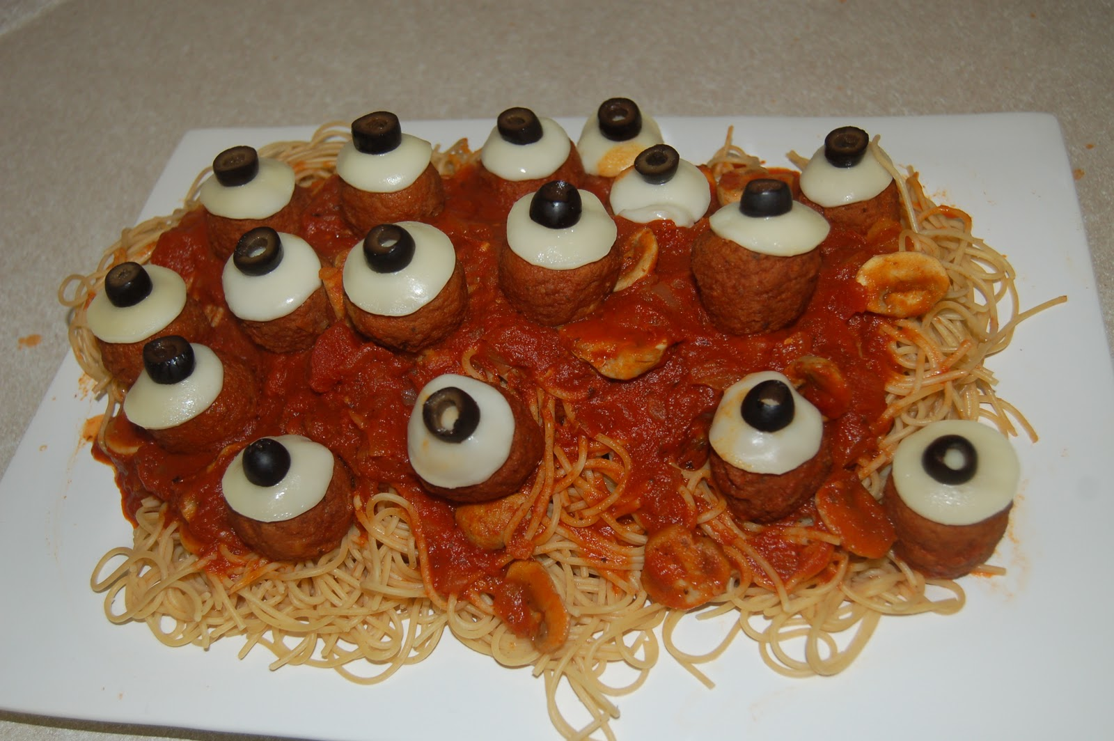 recipe halloween spaghetti meatballs 12 - Scary Halloween Meatballs