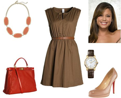 Color combination for brown dress