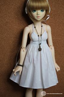 inEssence Creations - 'The White Dress' Minifee Halter Tank Dress
