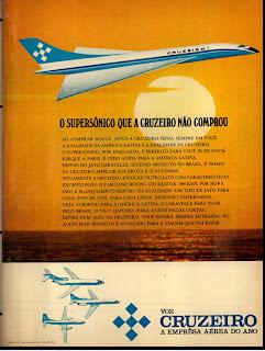 anúncio empresa aérea cruzeiro de 1970; história década de 70; anos 70; brazil in the 70s; Oswaldo Hernandez;