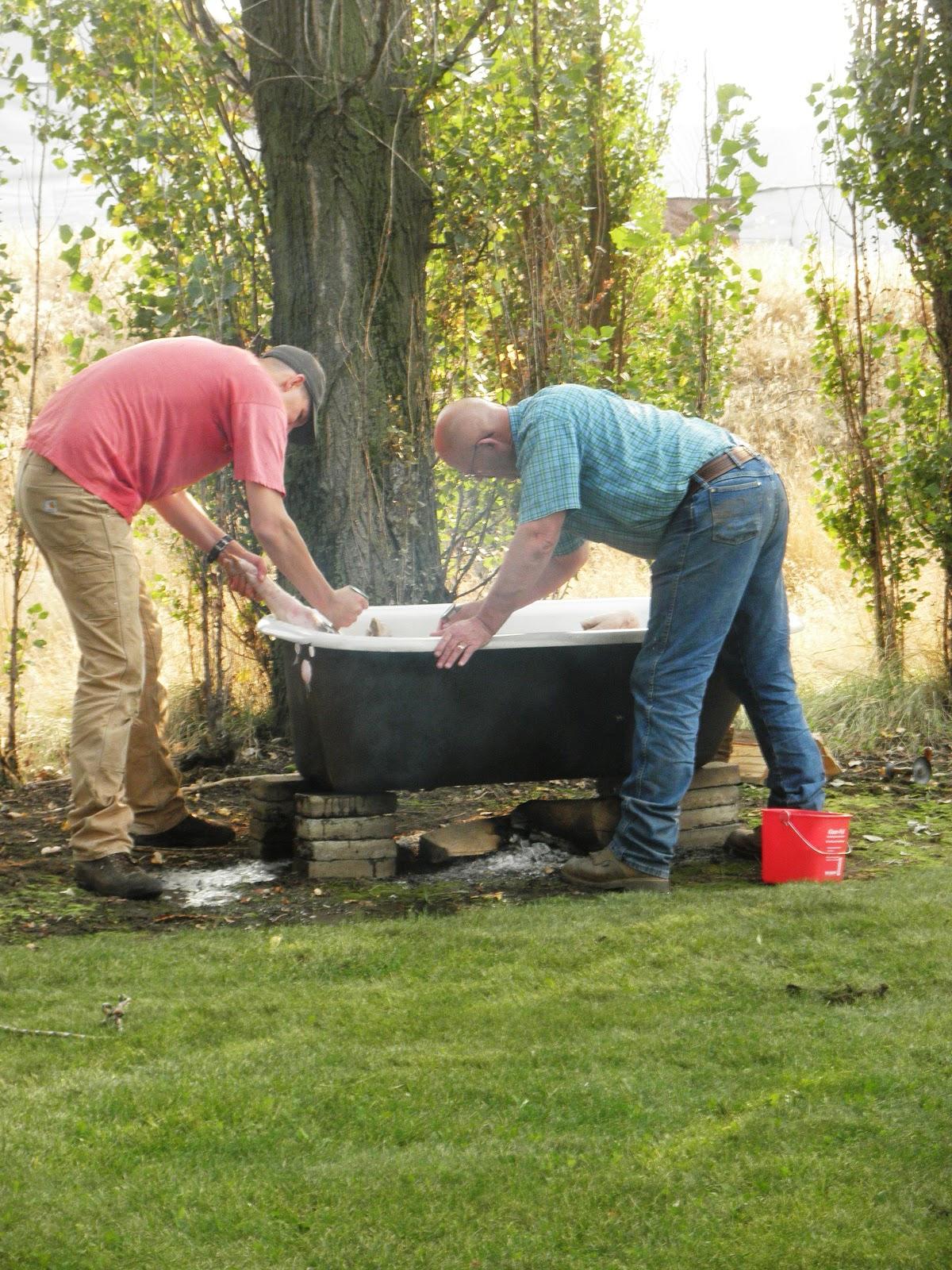 cast iron hot tub images