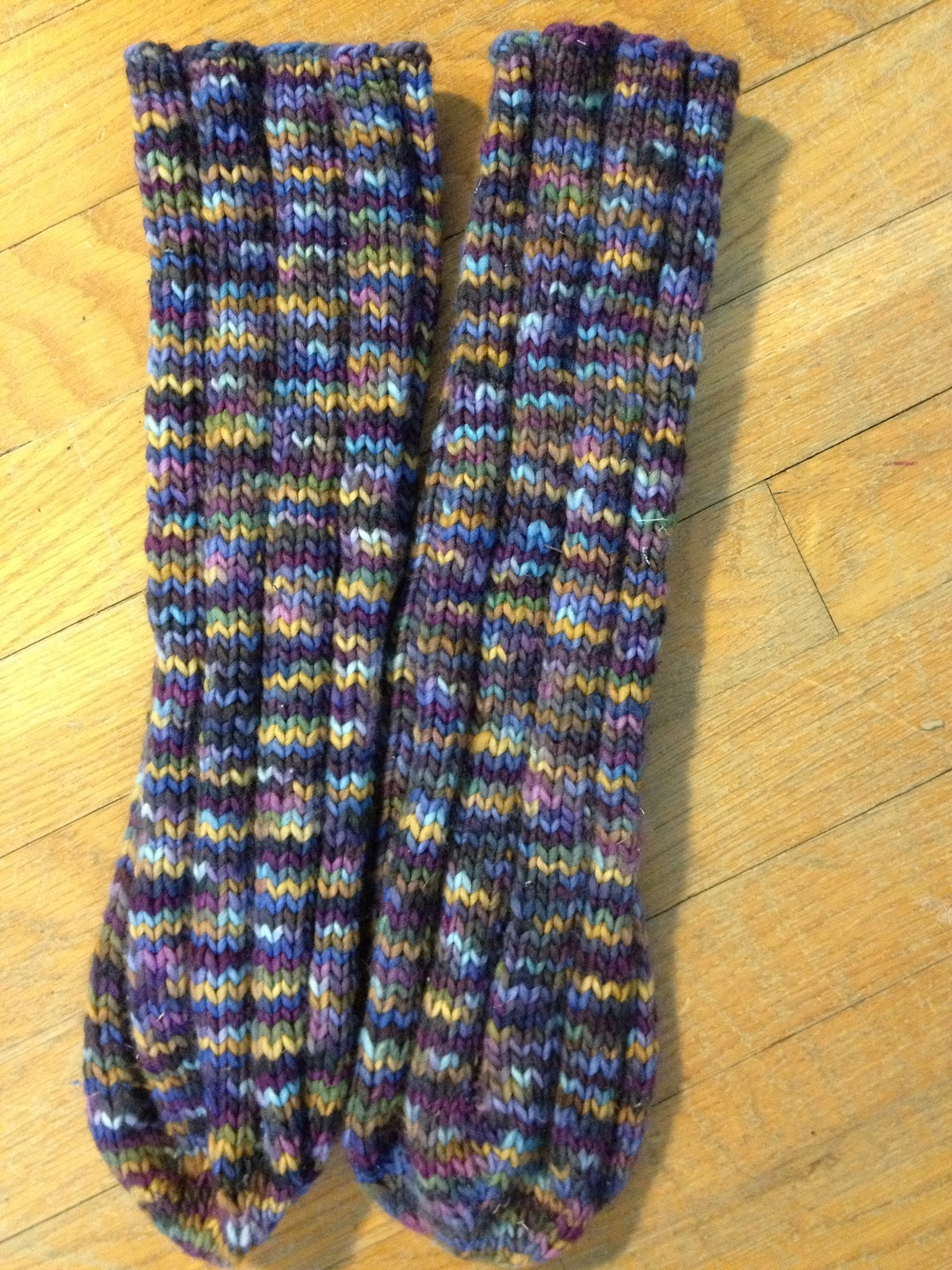 Knitting Tube Socks Free Pattern : Cats and Crafts: Knitted Purple Faux Cable Hat + Tube Socks