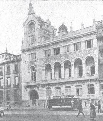 Fachada del Casino de Madrid en 1910