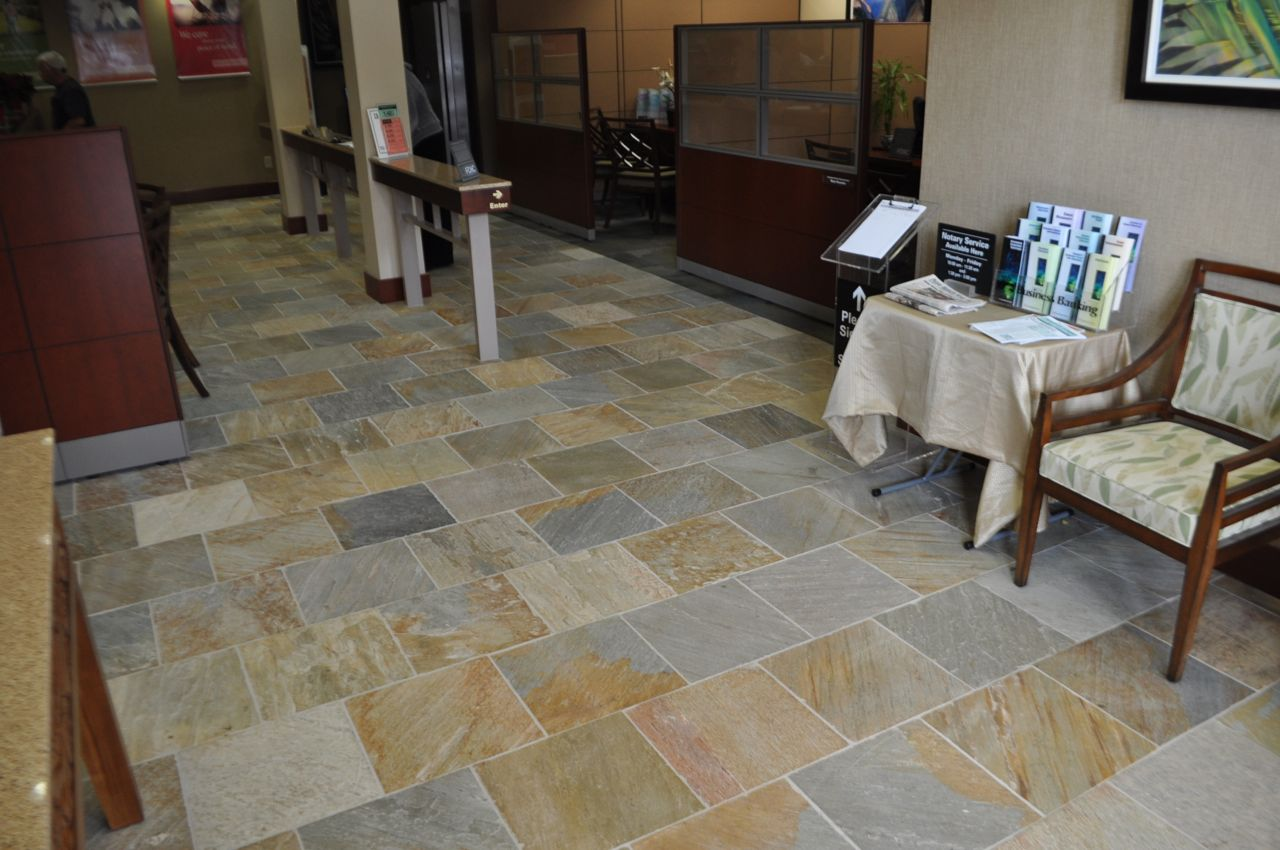First hawaiian bank kahana maui quartzite project higher the architect and the end user required natural stone quartzite flooring for the heavy use lobby area for a new bank location in the kahana gateway maui dailygadgetfo Images