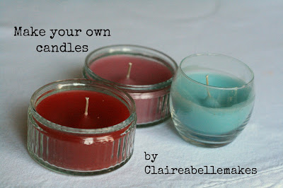 craftypainter: recycled candles by Claireabellemakes