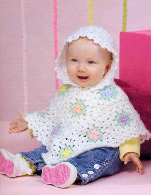 HOODED CHILD'S PONCHO CROCHET PATTERN « CROCHET FREE PATTERNS