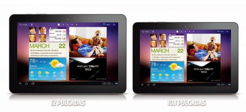 """Samsung Galaxy Tab Pro y Note Pro crecen a las 12"""""""