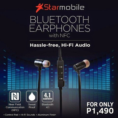 Starmobile Bluetooth Earphones with NFC Specs, Price and Availability