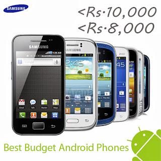 samsung android phone list below 10000