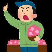 花の競り・競売のイラスト