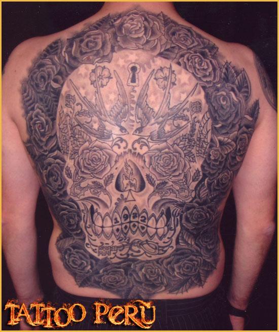 Tatuajes: Consejos antes de hacerse un Tatuaje Arte_mexicano_en_la_espalda