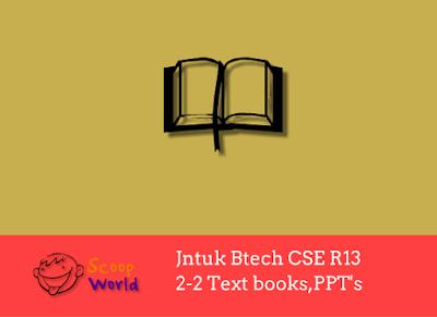 Jntuk CSE R13 2-2 Ebooks