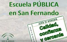 Matricúlate en la pública de San Fernando