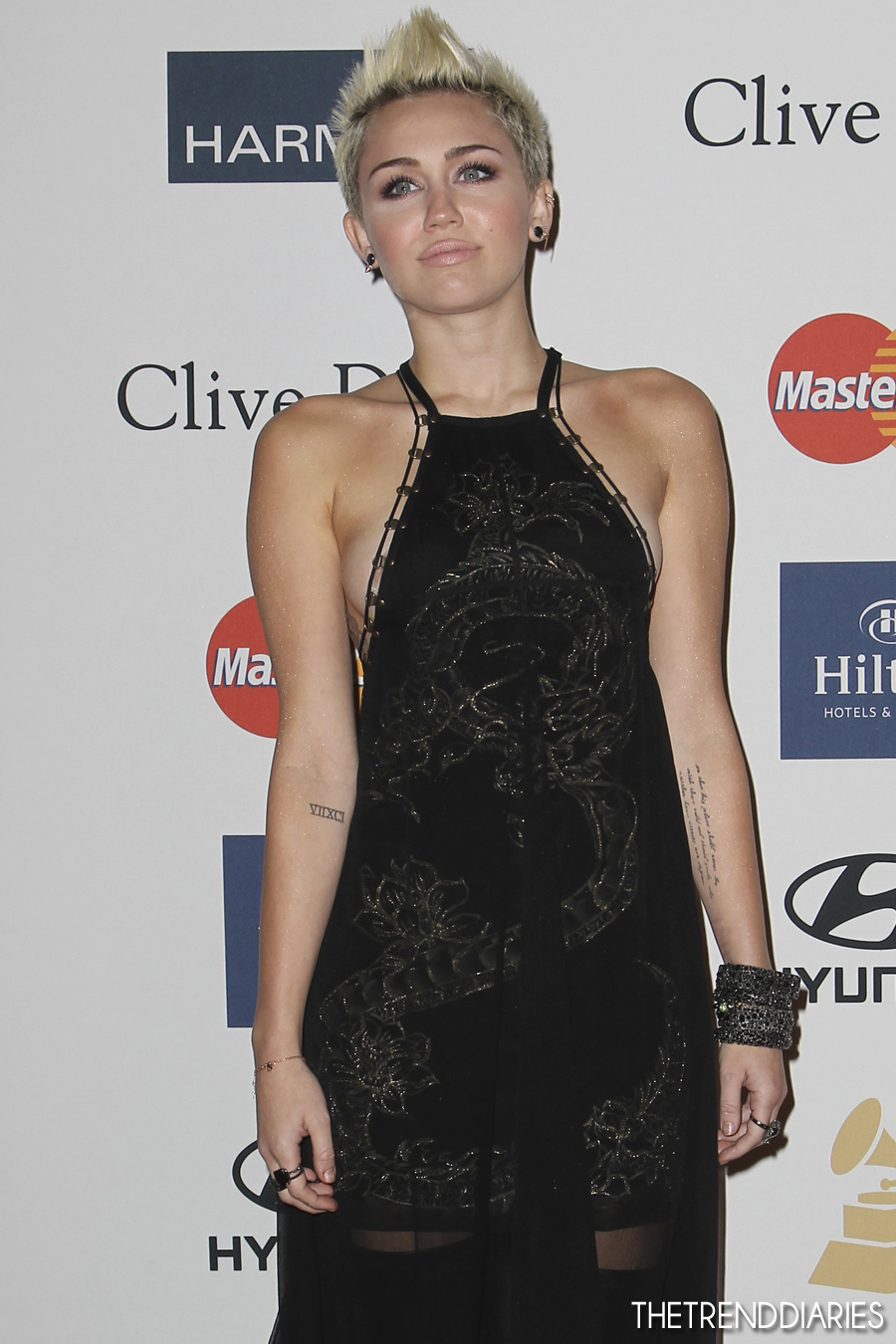 Miley Cyrus at the Clive Davis & The Recording Academy's ... Miley Cyrus Grammys 2013