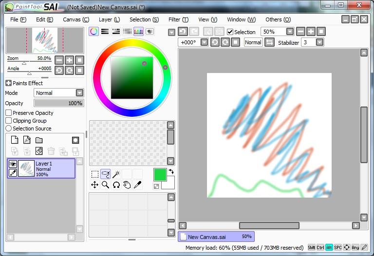How To Do Split Screen On Paint Tool Sai