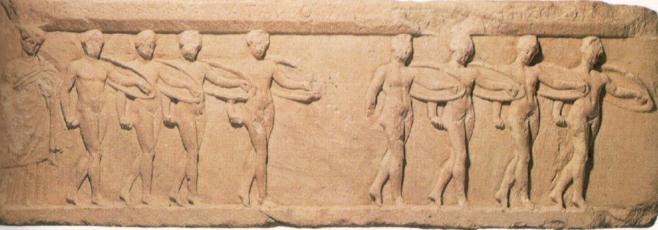 Danza pírrica. Museo de la Acrópolis. Atenas