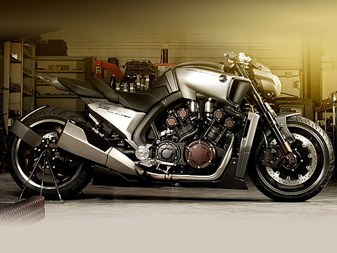 2013 Yamaha VMAX Hyper Modified Ludovic Lazareth pictures, 480x360 pixels