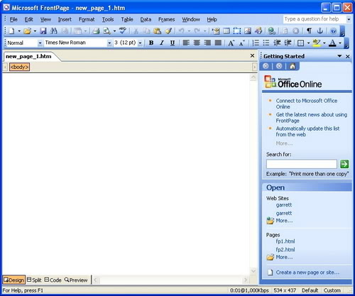 microsoft frontpage  download