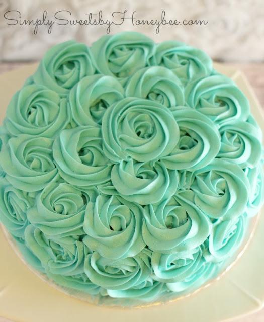 Rose Swirl Cake Video Tutorial Simplysweetsbyhoneybeecom