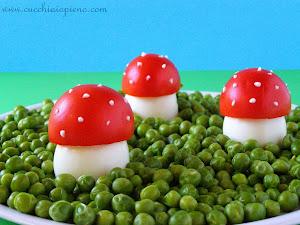 MINHA SUGESTÃO PARA VOCÊS: cogumelos de ovos recheados