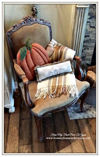 Pumpkin Pillow-Fall Decor Sneak Peek-From My Front Porch To Yours