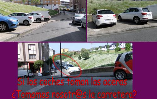 Si los coches toman las aceras ¿Tomamos nosotr@s las carreteras?