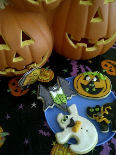 Halloween themed sugar cookes