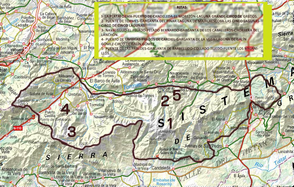 Rutas en mapa