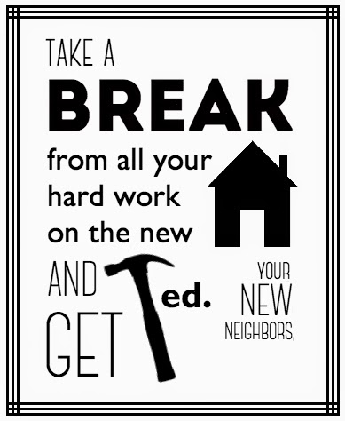 Free Printable // Housewarming Gift from Your New Neighbors