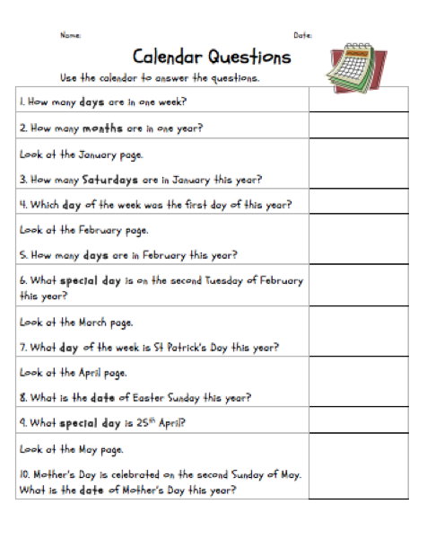 Calendar Year Question : The learning curve assessing calendar work