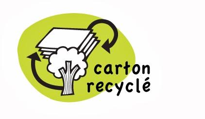 Jeu fabriqué en carton et papier recyclés
