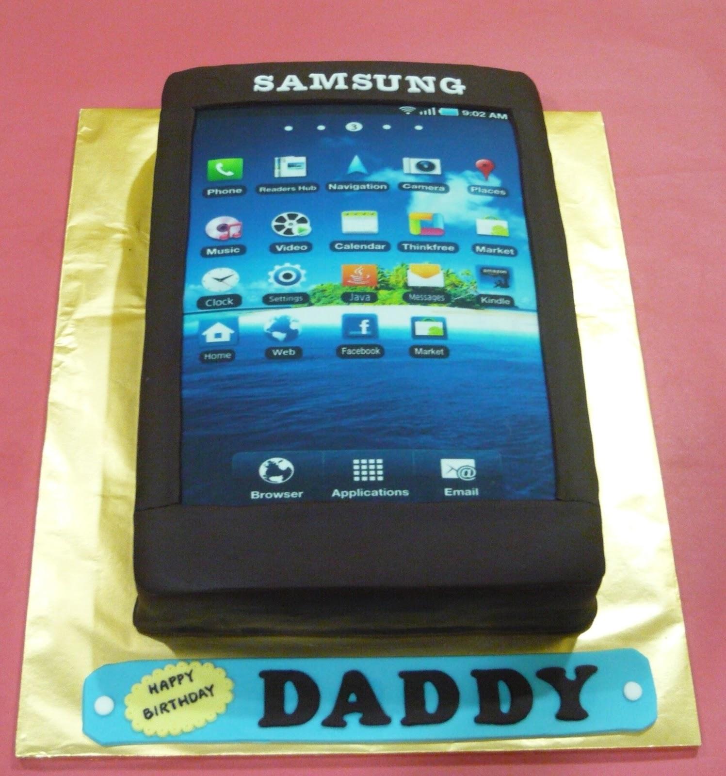 Cell Phone Birthday Cake Topper