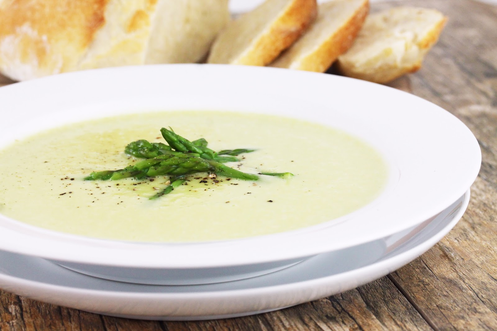 The Stay At Home Chef: Cream of Asparagus Soup (Without Cream)