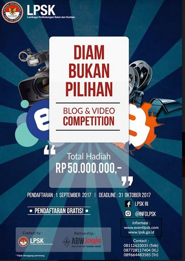 LPSK Blog dan Video Competition 2017 [Gratis, Hadiah 46, 5 Jt]