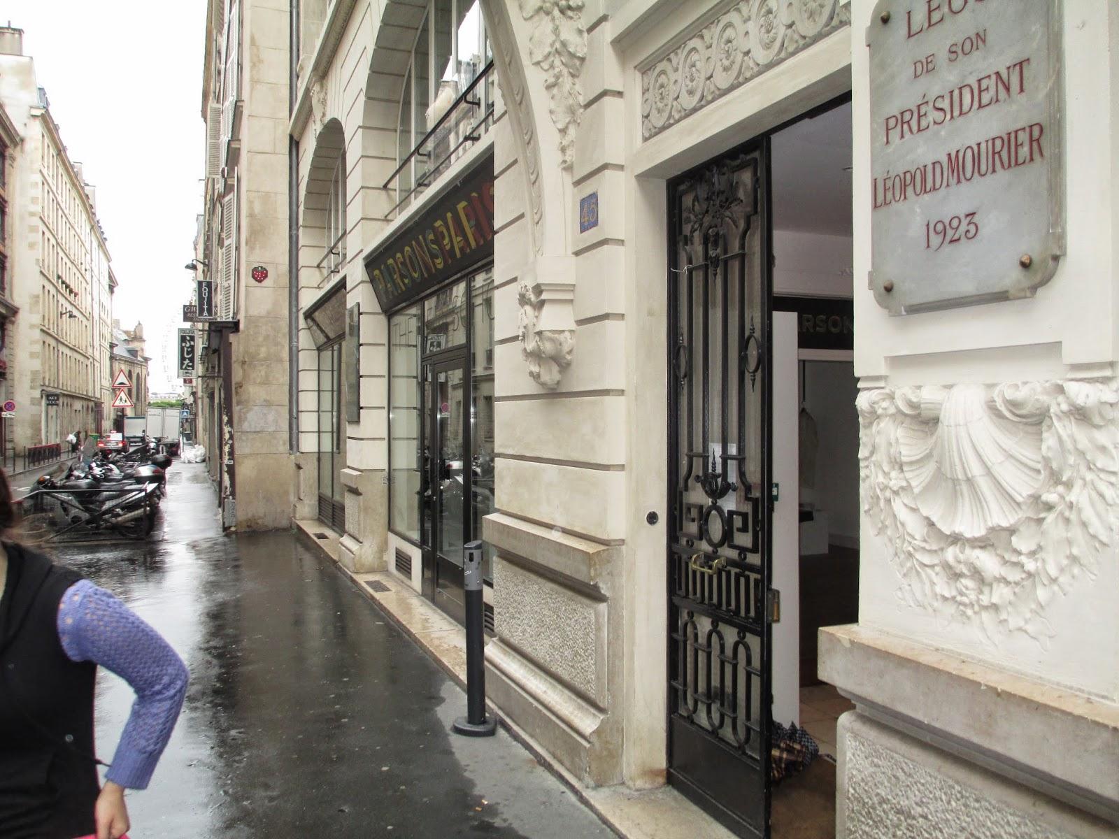 Paris fashion school parsons Verrier