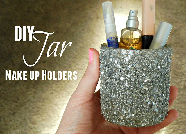 Eye  Makeup tutorial + a DIY Glitter Jar Makeup Holder #LorealBeauty AD