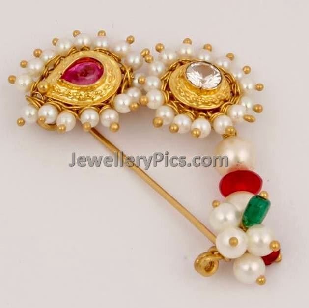 Gold Nath Maharashtrian Ornament Latest Jewellery Designs