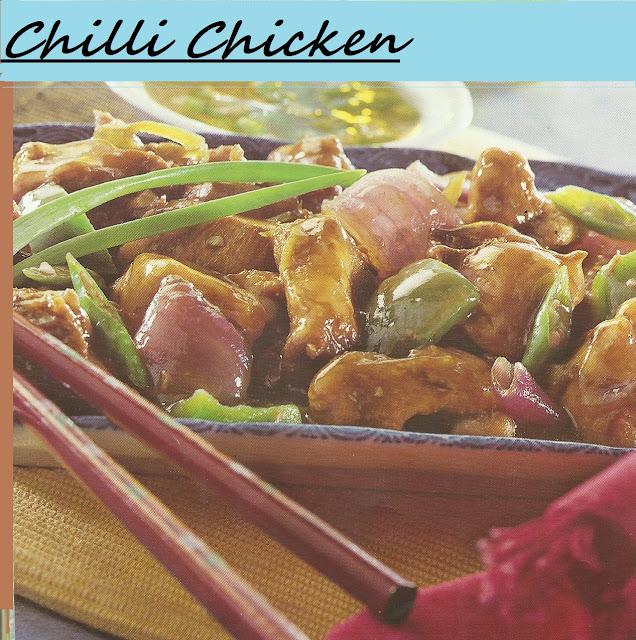 Microwaved Chilli Chicken