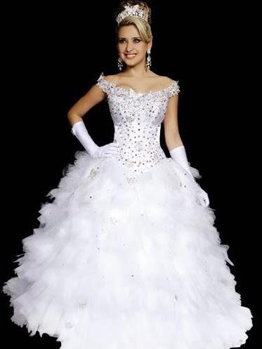 vestido branco para festa de 15 anos - modelos e dicas