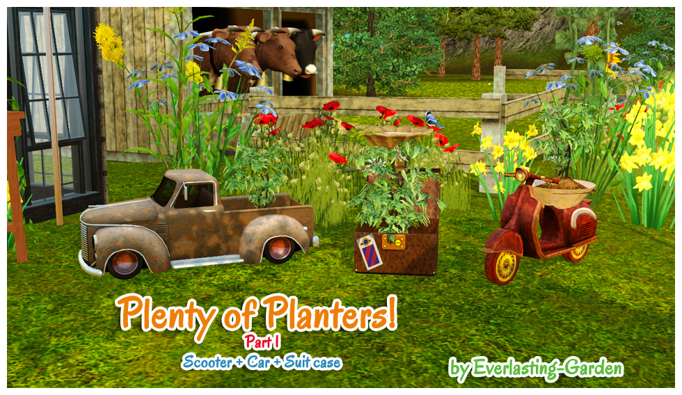 My sims 3 blog plenty of planters by everlasting garden for Indoor gardening sims 4