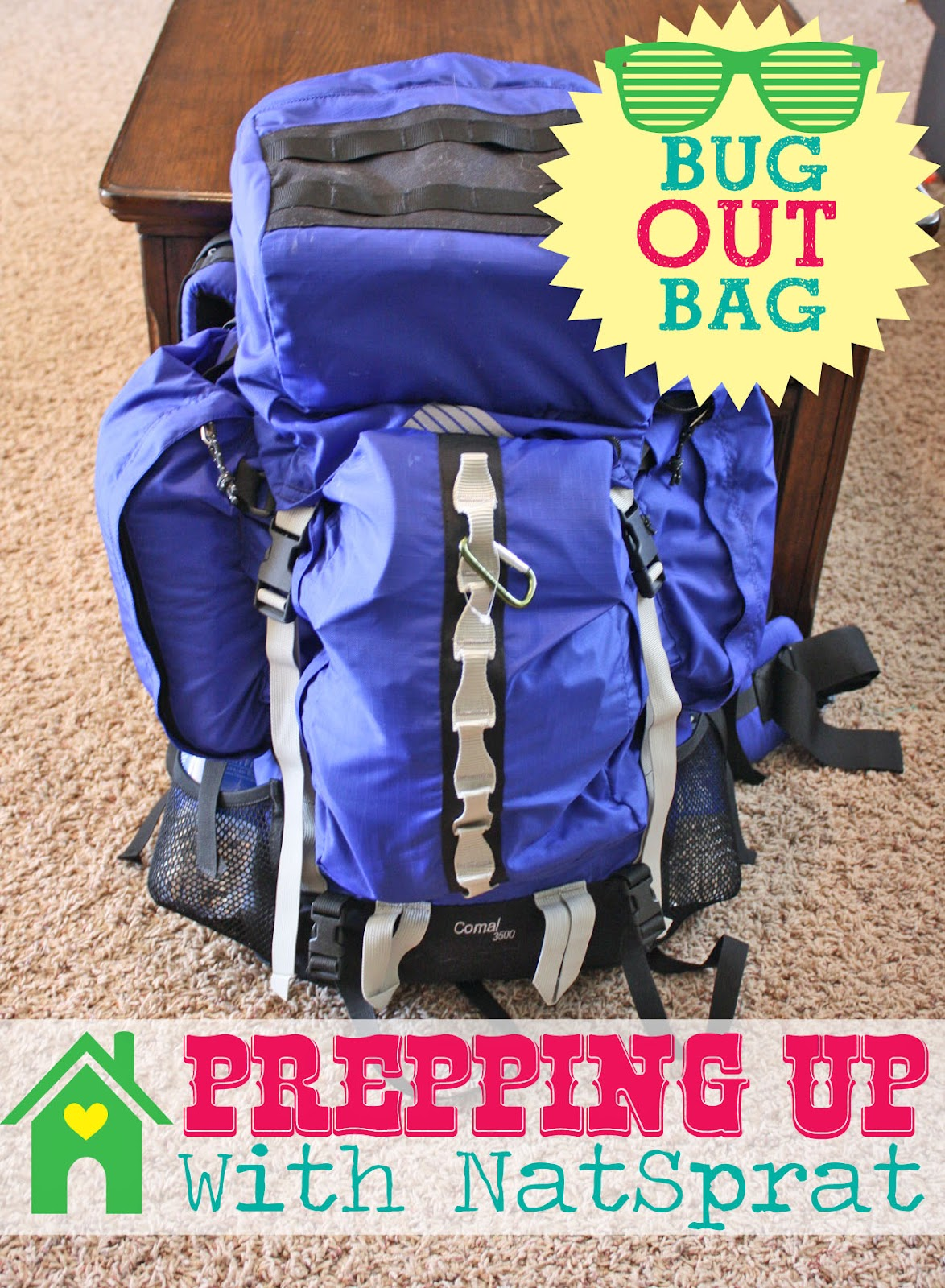 Prepping With NatSprat: 72 hour kit {Bug Out Bag}