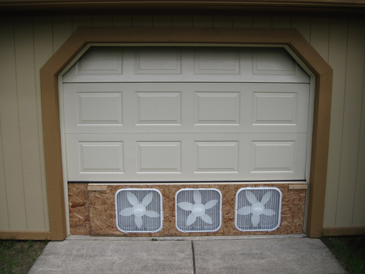It Occurs To Me That The Main Source Of Incoming Air In This Configuration  Will Be The Gap Along The Top Of The Garage Door Opening That Is Created  When The ...