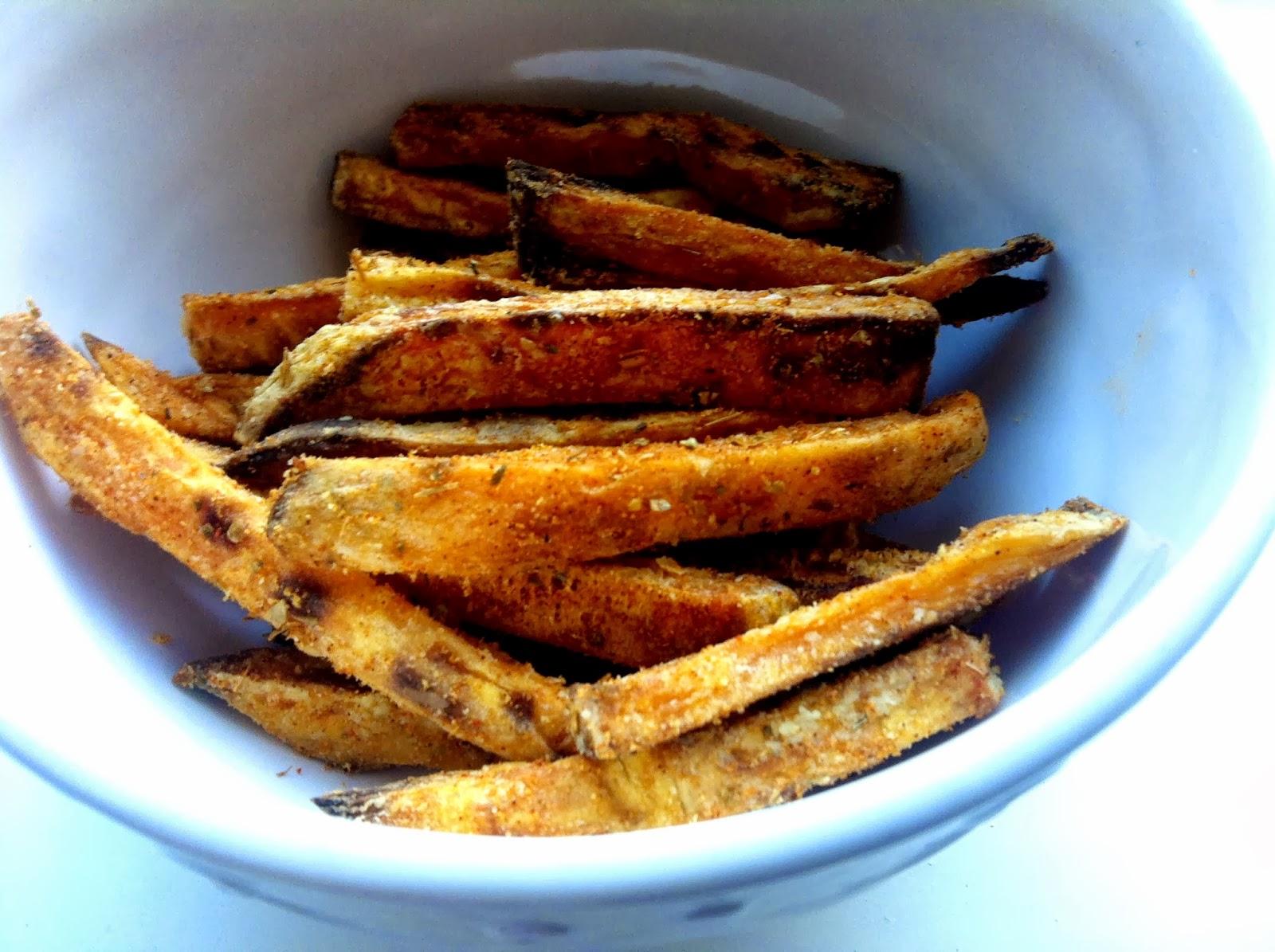 Baked Sweet Potato Fries with Five Guys' Cajun Seasoning