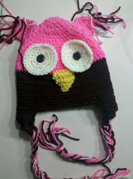 Pink & Brown Owl